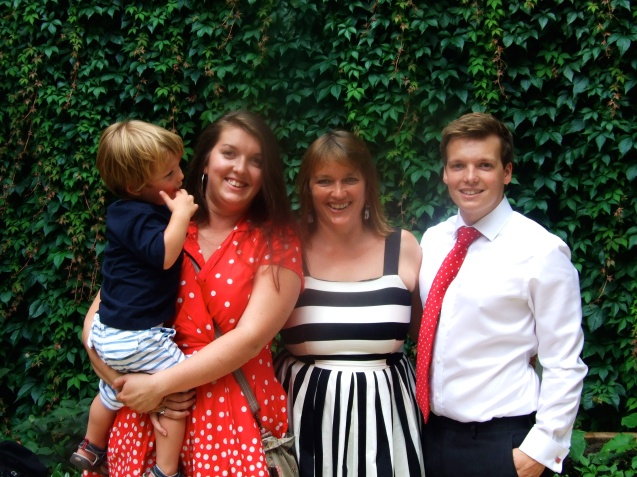 My children and Grandson. Graduation day