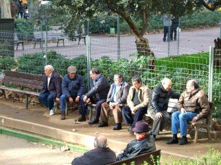 Locals enjoy a game of Petanque