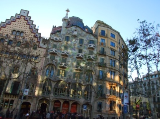the main Gaudi building on the main drag. an incredible spectacle when you first see it