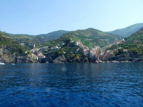 View of Romaggiore from the sea