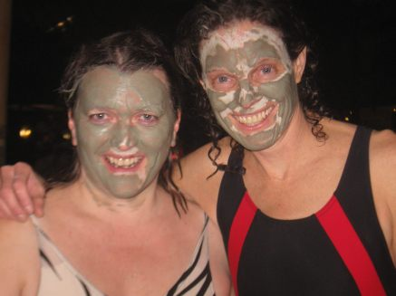 Beth and I face pack 2012