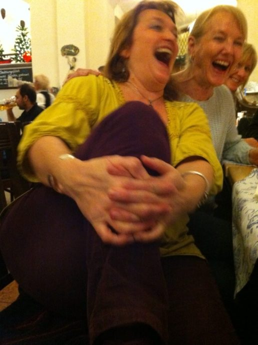 Jen and I laughing autumn 2014