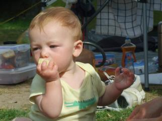 Danny plus potato @ campsite. France 2012