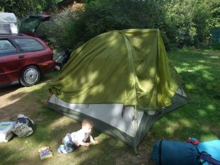 Tent plus baby.France 2012