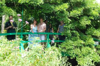 With Andy on the bridge. Giverny 2014