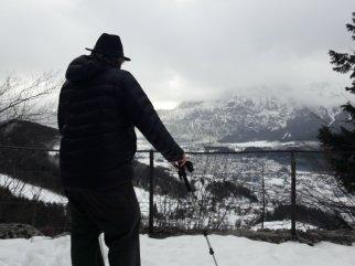 Martin surveys the valley