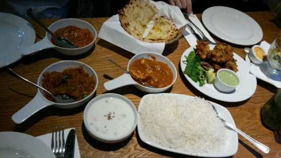 Our meal. You just can't get curries like this in Munich