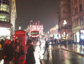 Piccadilly Circus on a Saturday Evening