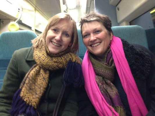 Sabine and I do SE trains